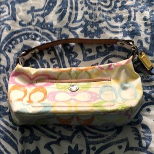 Coach small spring themed purse
